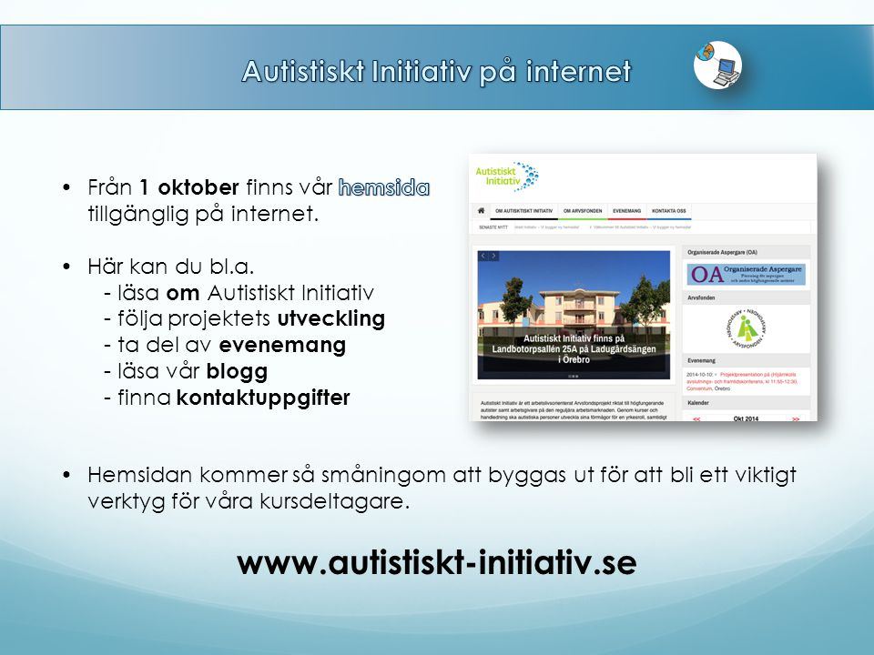 Autistiskt Initiativ på internet