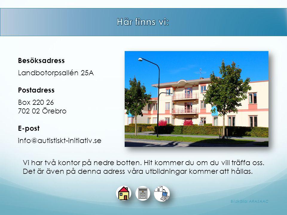 Här finns vi: Besöksadress Landbotorpsallén 25A Postadress Box 220 26