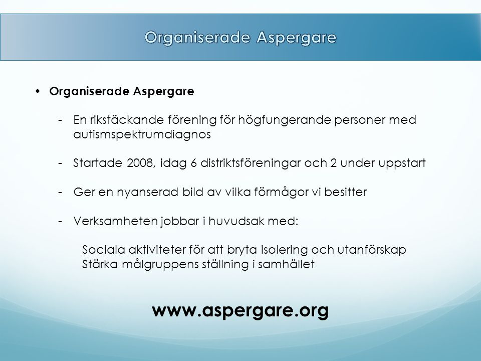 Organiserade Aspergare