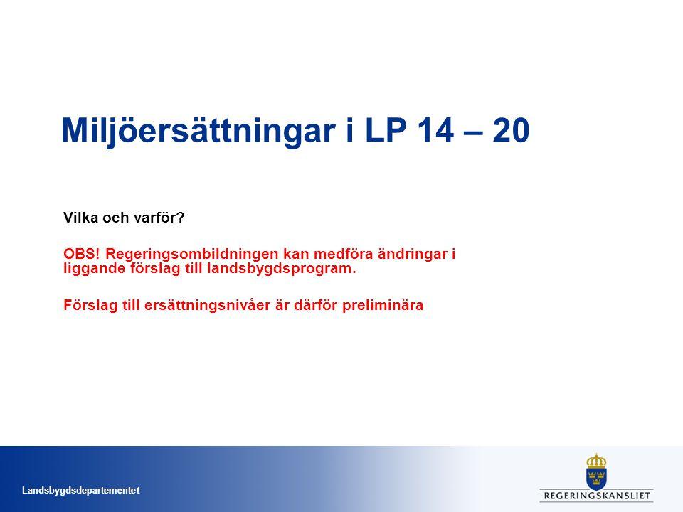 Miljöersättningar i LP 14 – 20