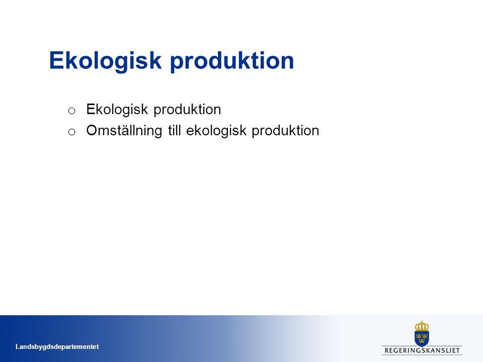 Ekologisk produktion Ekologisk produktion
