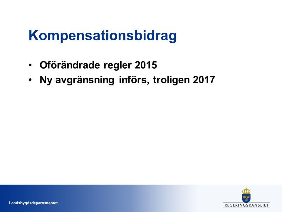 Kompensationsbidrag Oförändrade regler 2015