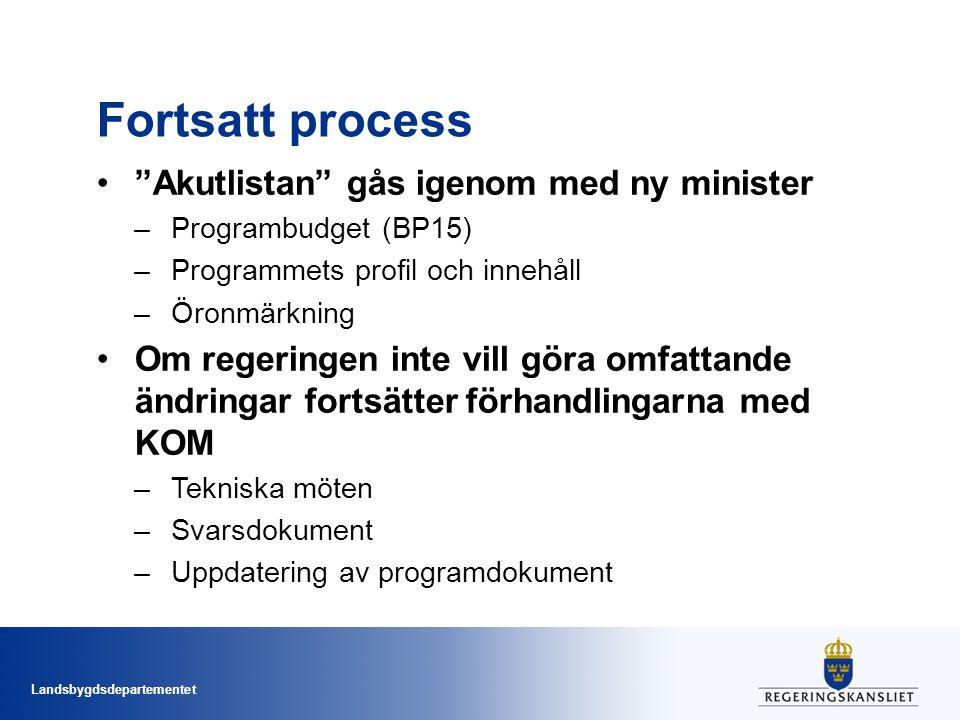 Fortsatt process Akutlistan gås igenom med ny minister