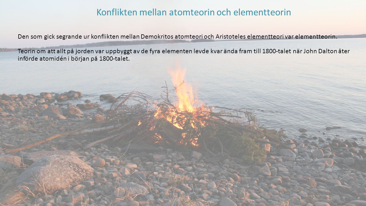 Konflikten mellan atomteorin och elementteorin