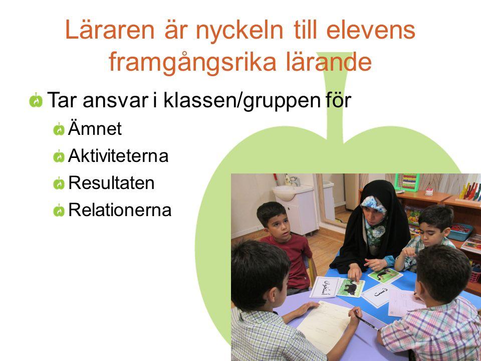 Läraren är nyckeln till elevens framgångsrika lärande