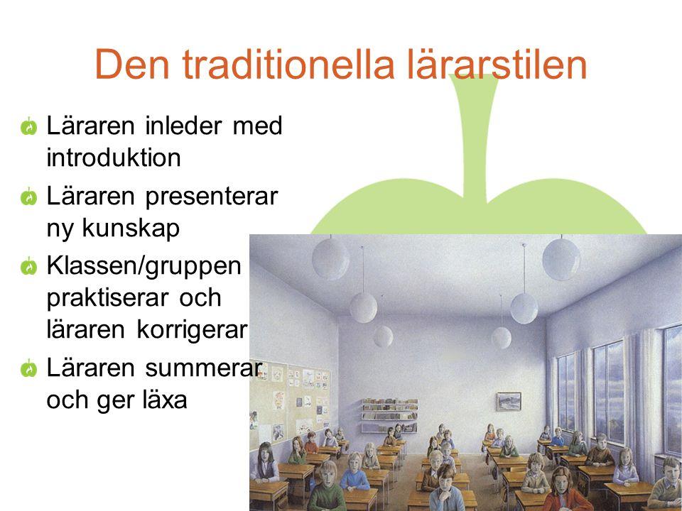 Den traditionella lärarstilen
