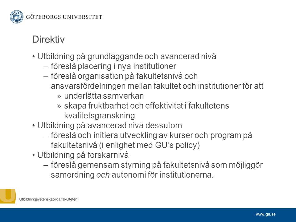 Direktiv Utbildning på grundläggande och avancerad nivå