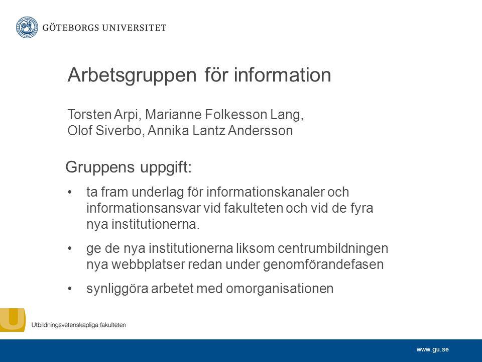 Arbetsgruppen för information
