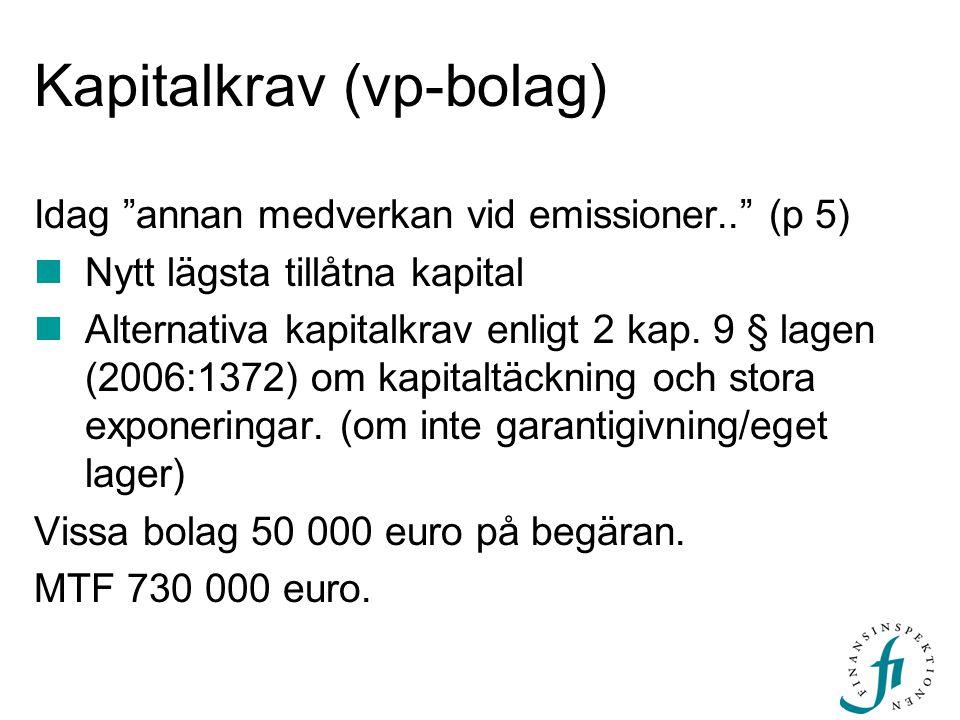 Kapitalkrav (vp-bolag)