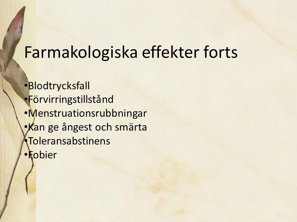 Farmakologiska effekter forts