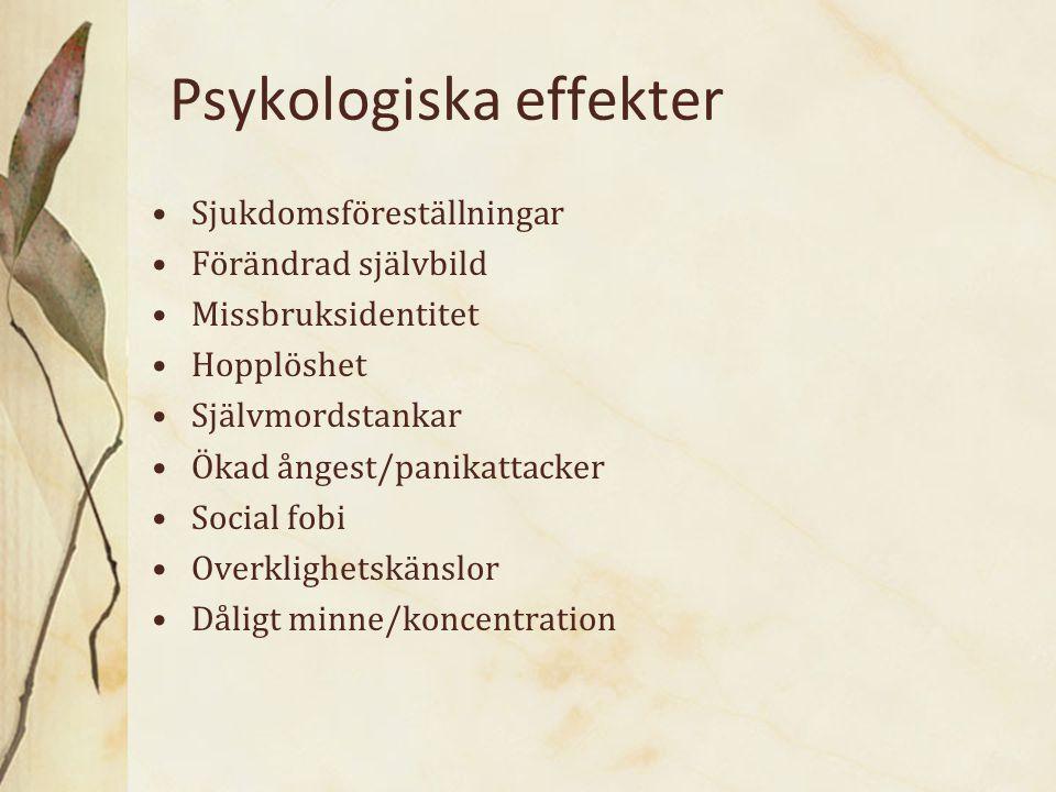 Psykologiska effekter