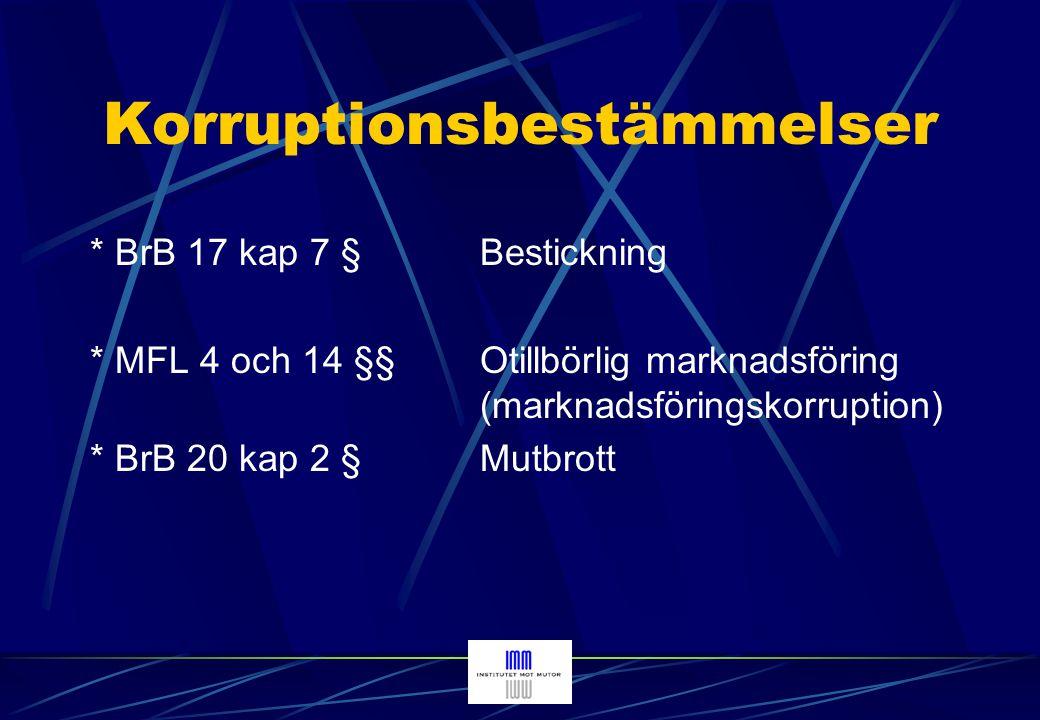 Korruptionsbestämmelser