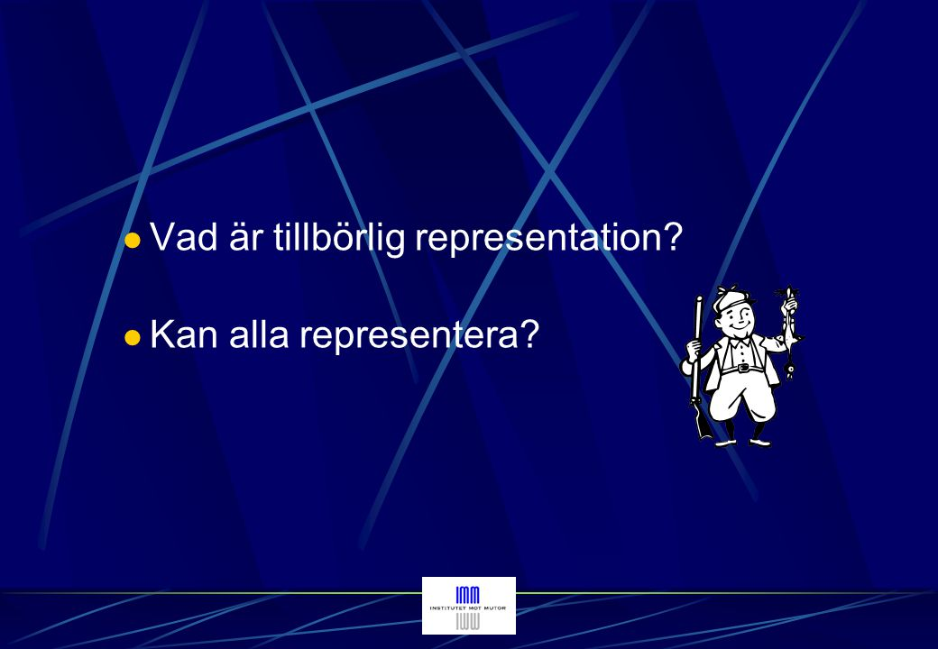 Vad är tillbörlig representation