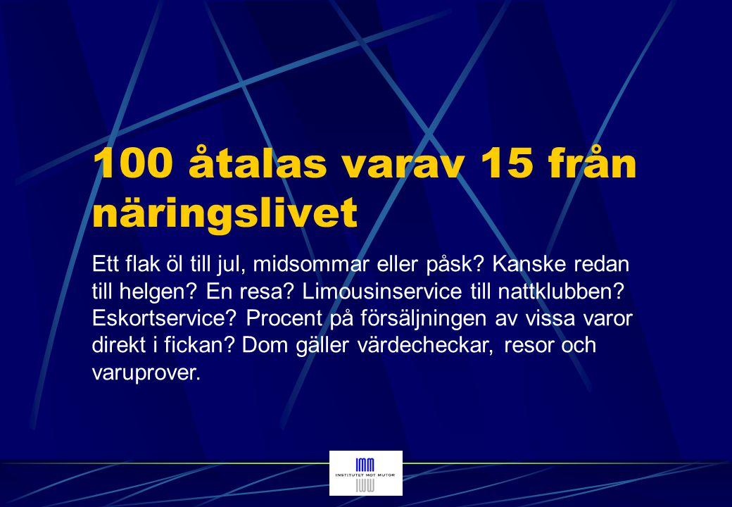 100 åtalas varav 15 från näringslivet