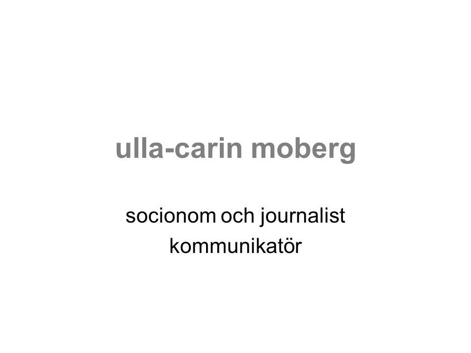 socionom och journalist kommunikatör