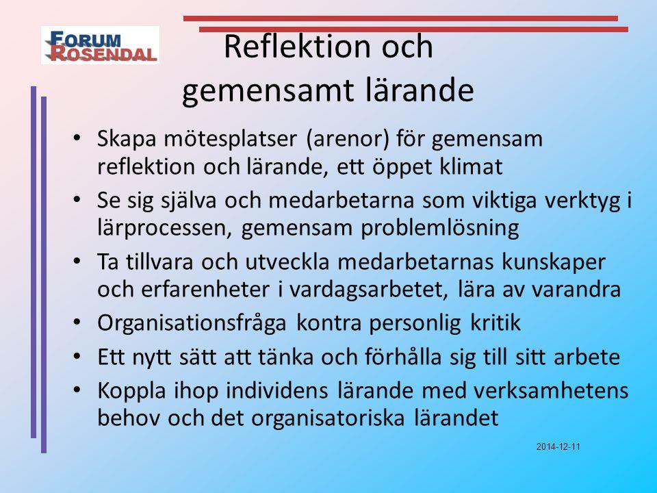 Reflektion och gemensamt lärande