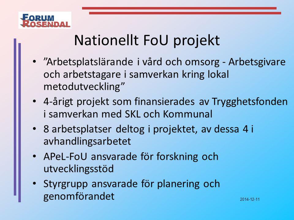 Nationellt FoU projekt