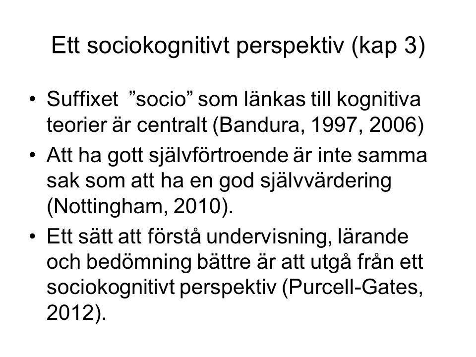 Ett sociokognitivt perspektiv (kap 3)