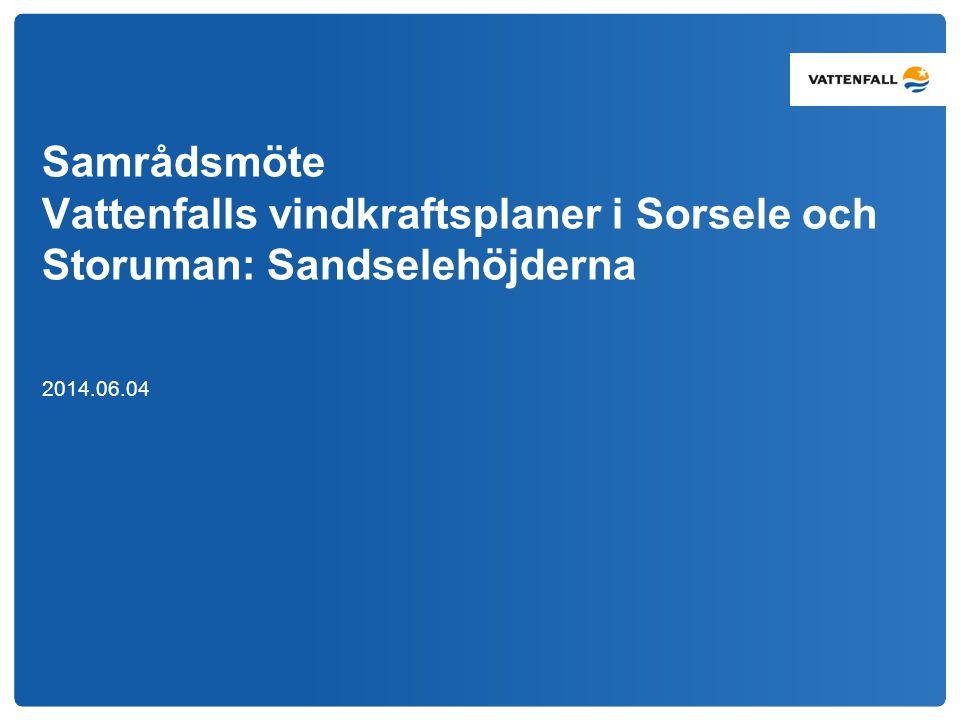 Samrådsmöte Vattenfalls vindkraftsplaner i Sorsele och Storuman: Sandselehöjderna