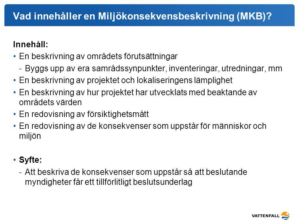 Vad innehåller en Miljökonsekvensbeskrivning (MKB)