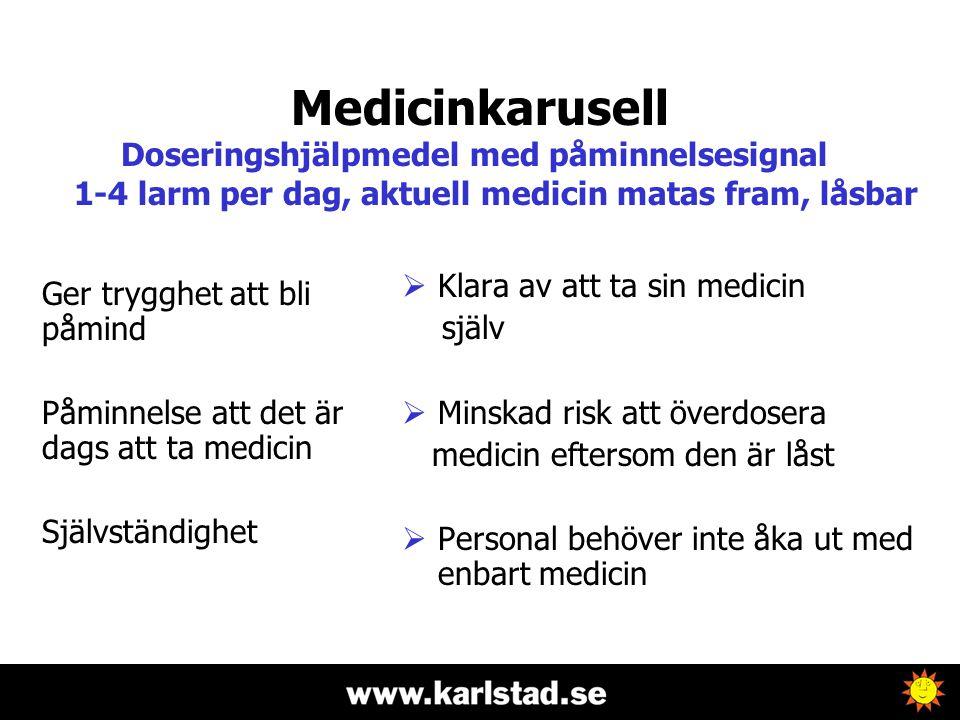 Medicinkarusell Doseringshjälpmedel med påminnelsesignal