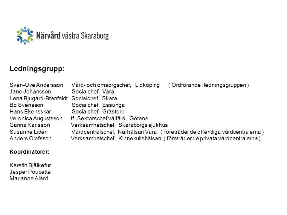 Ledningsgrupp: Sven-Ove Andersson Vård- och omsorgschef, Lidköping ( Ordförande i ledningsgruppen )