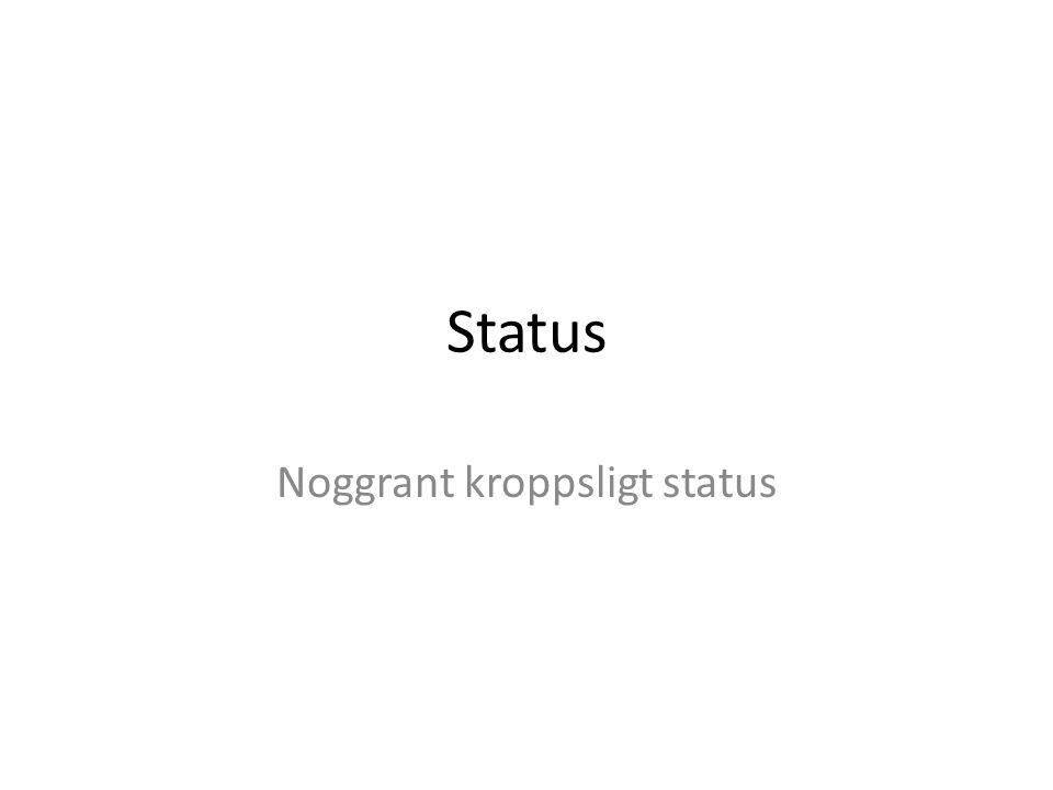 Noggrant kroppsligt status