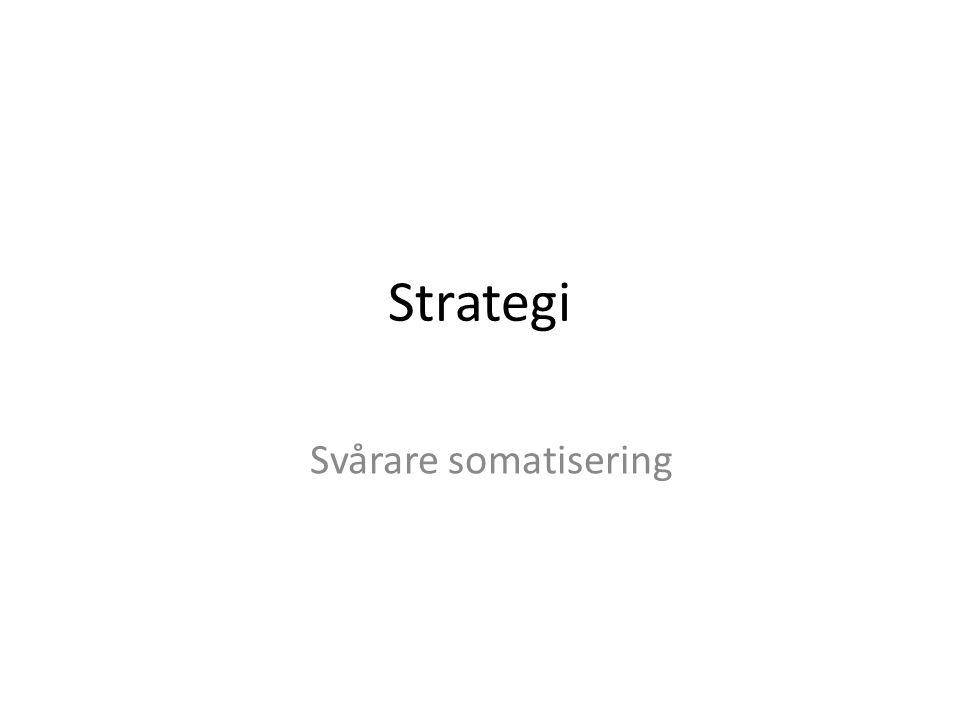 Strategi Svårare somatisering