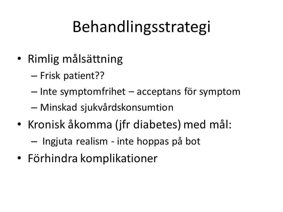 Behandlingsstrategi Rimlig målsättning