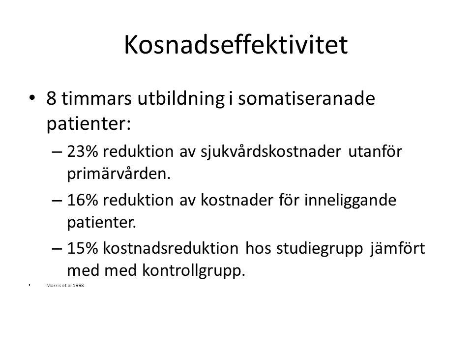 Kosnadseffektivitet 8 timmars utbildning i somatiseranade patienter: