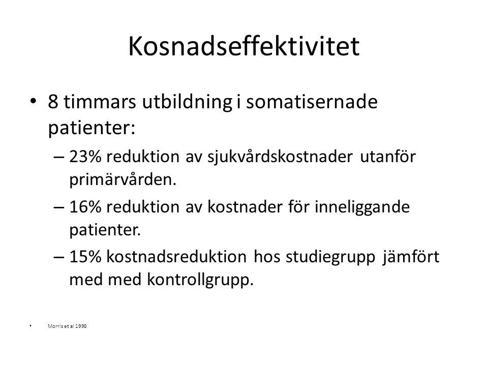 Kosnadseffektivitet 8 timmars utbildning i somatisernade patienter: