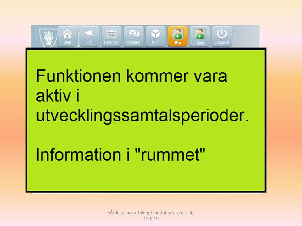 Vårdnadshavarinloggning Tallkrogens skola 140312