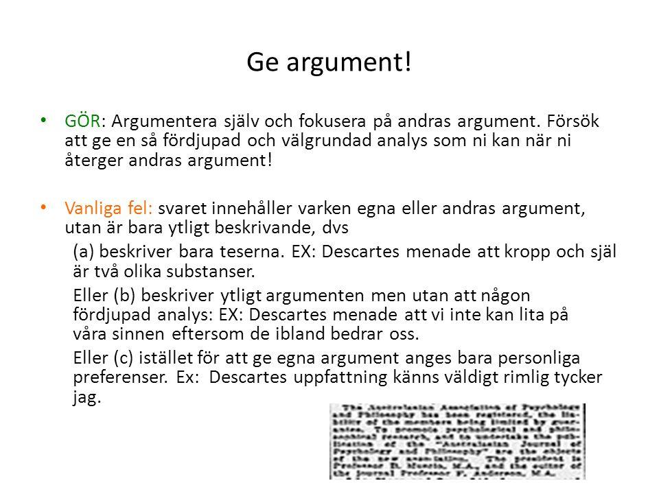 Ge argument!