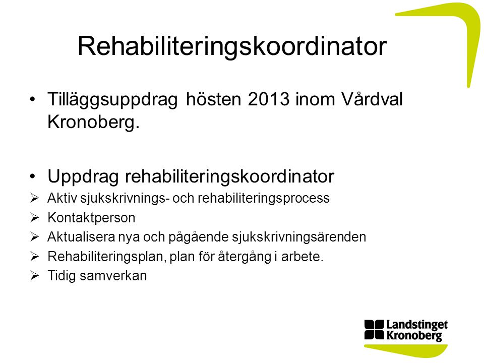 Rehabiliteringskoordinator