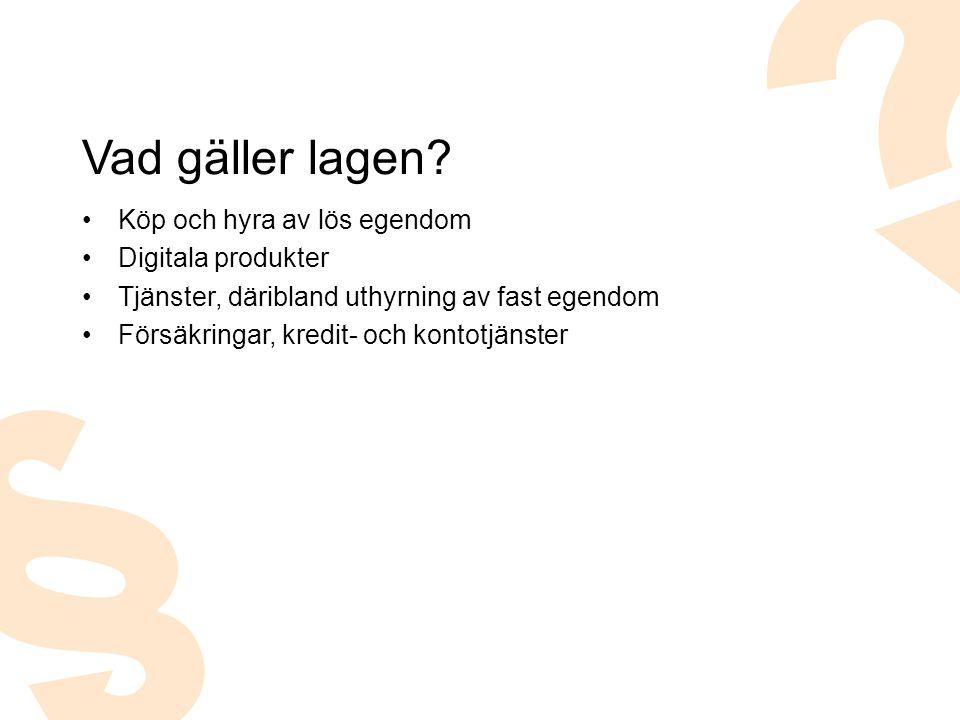 Vad gäller lagen Köp och hyra av lös egendom Digitala produkter