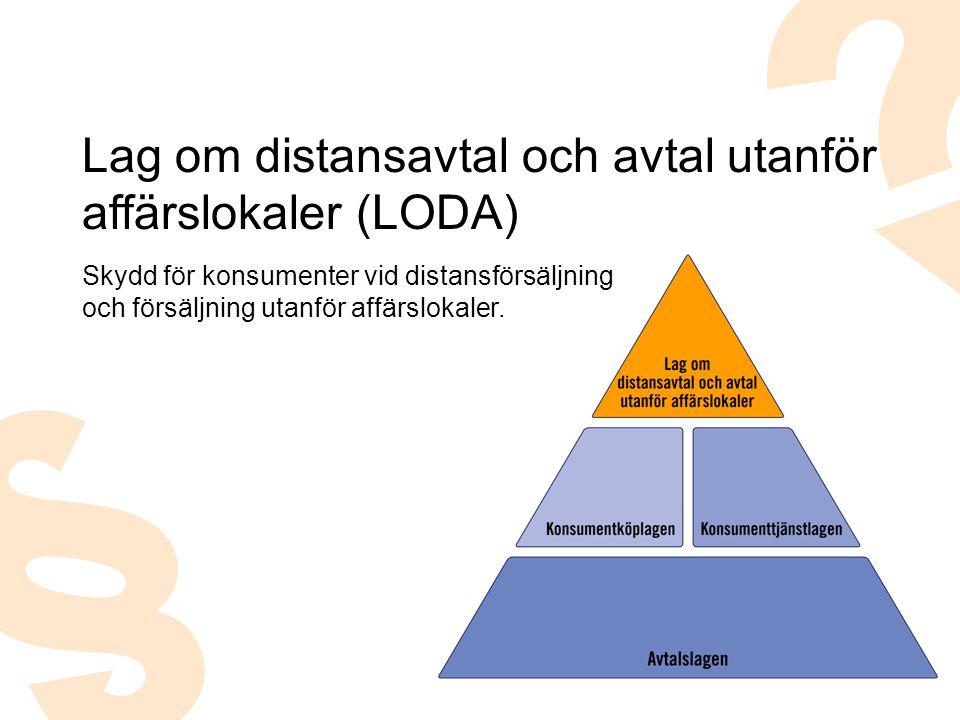 Lag om distansavtal och avtal utanför affärslokaler (LODA)