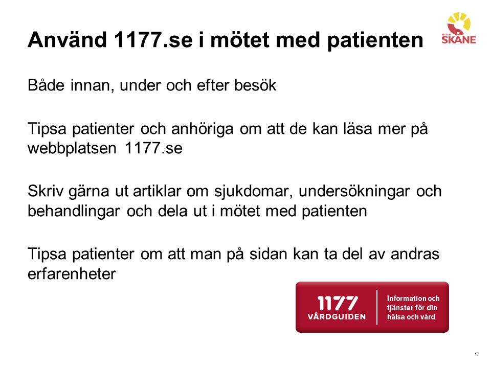 Använd 1177.se i mötet med patienten