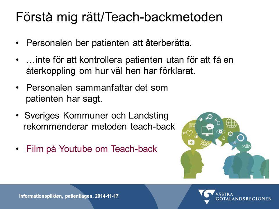 Förstå mig rätt/Teach-backmetoden