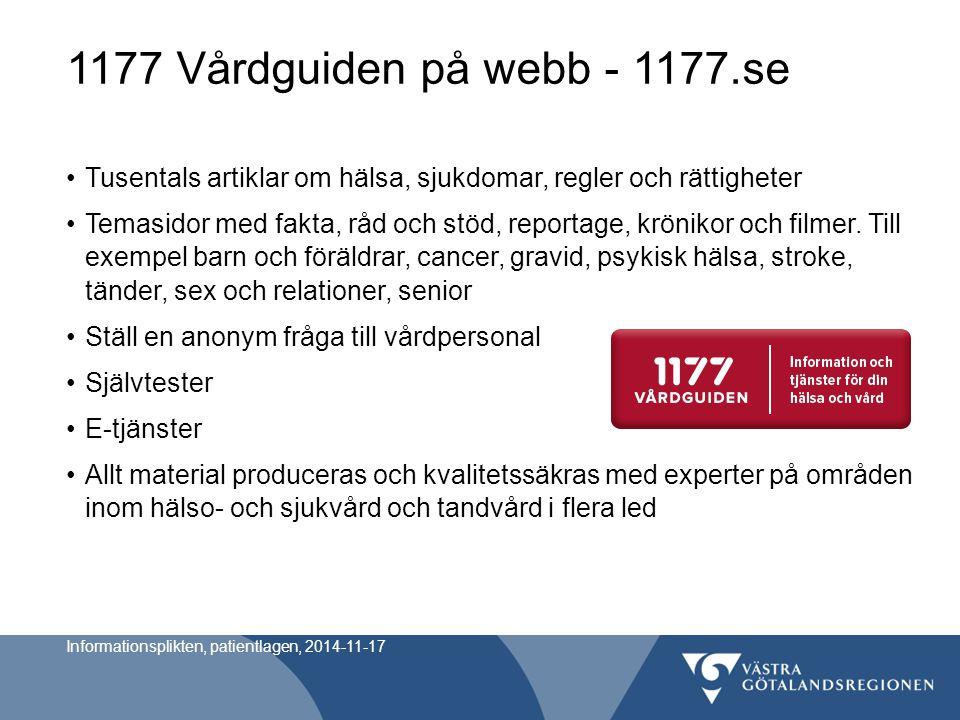 1177 Vårdguiden på webb - 1177.se Tusentals artiklar om hälsa, sjukdomar, regler och rättigheter.