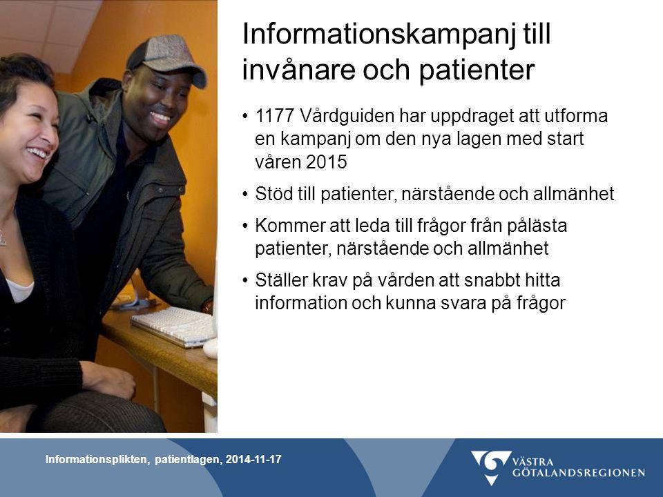Informationskampanj till invånare och patienter