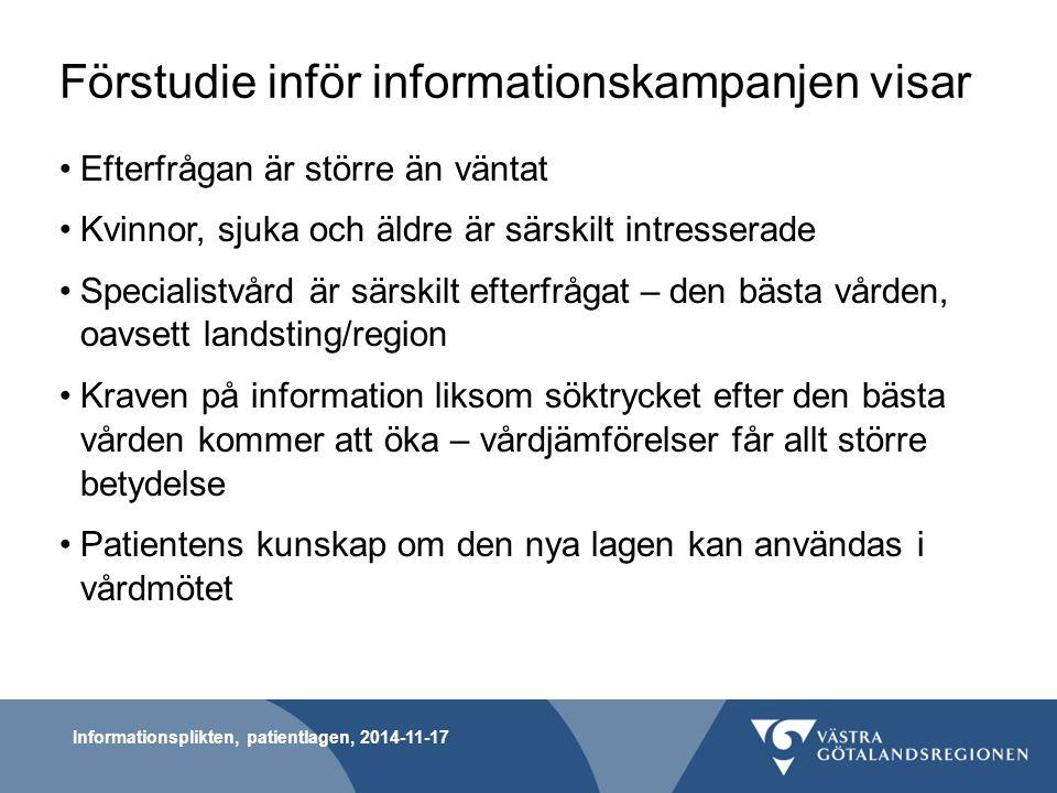 Förstudie inför informationskampanjen visar