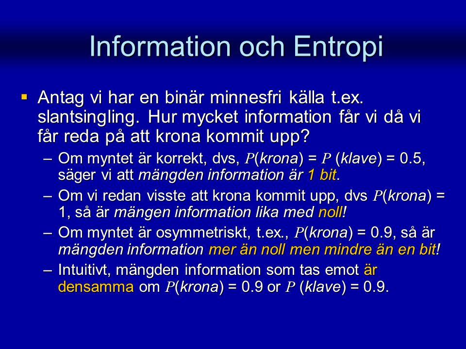 Information och Entropi