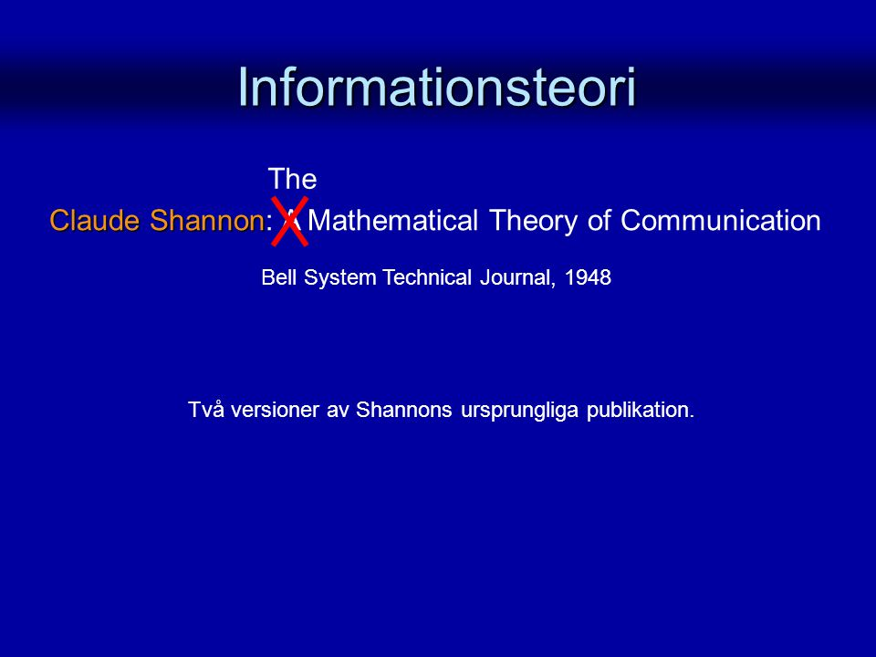 Informationsteori The
