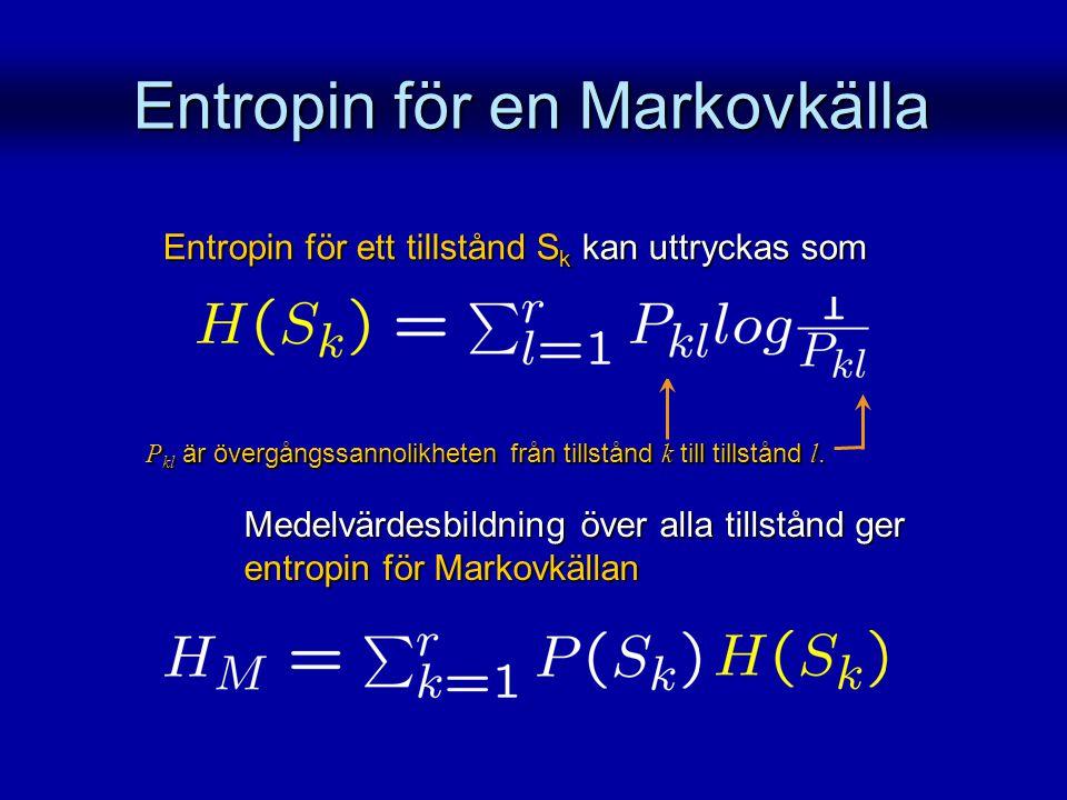 Entropin för en Markovkälla
