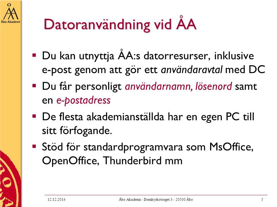 Datoranvändning vid ÅA