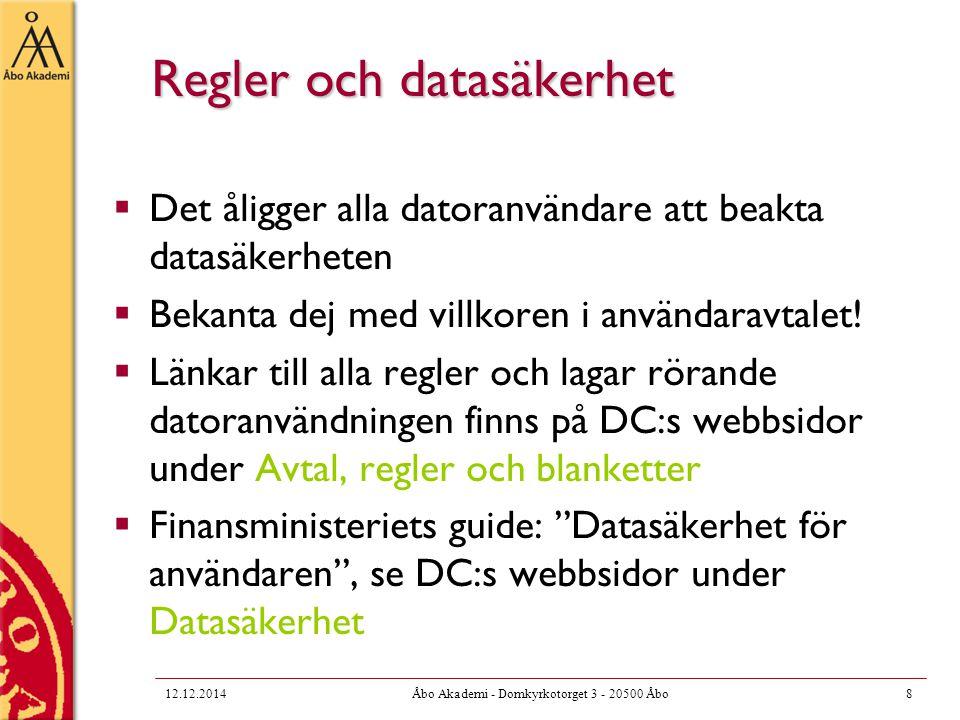 Regler och datasäkerhet