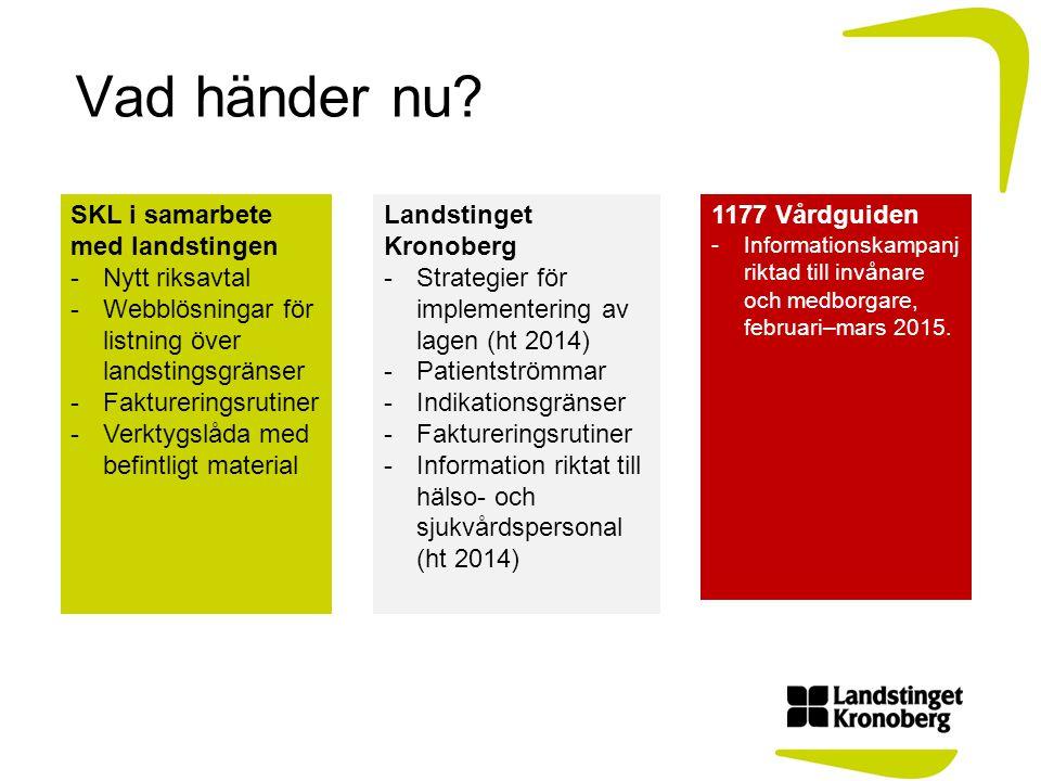 Vad händer nu SKL i samarbete med landstingen Nytt riksavtal
