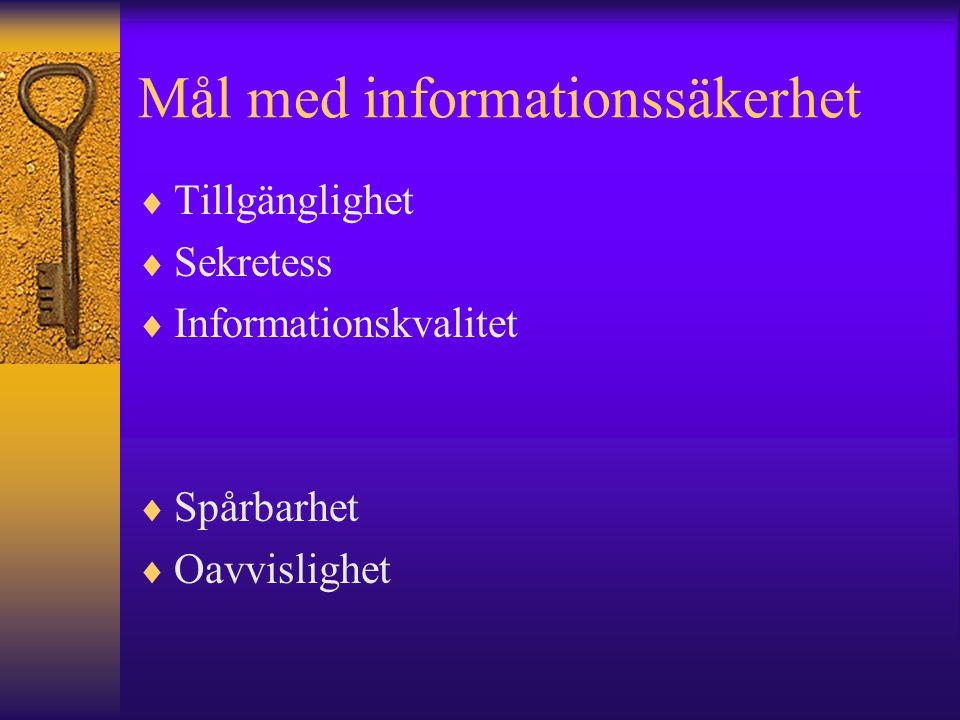 Mål med informationssäkerhet