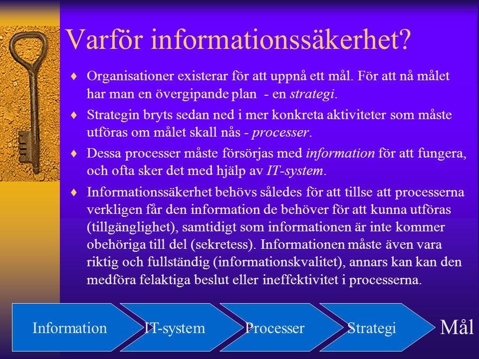 Varför informationssäkerhet