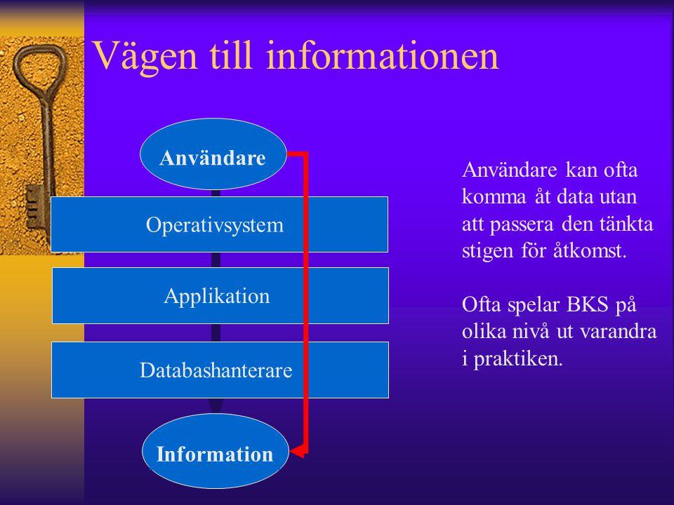 Vägen till informationen